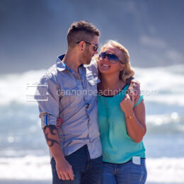 Couple on the Oregon Coast Shore