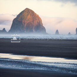 Haystack Rock at Golden Hour