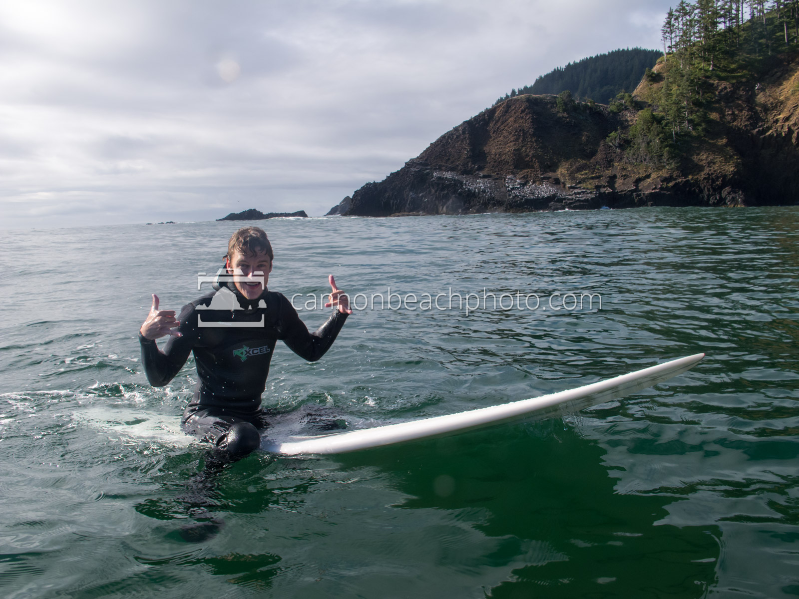 Surfer Pose at Ecola State Park