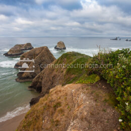 Epic Seascape Above Murre Rocks, Oregon Coast