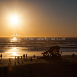 Golden Light at Peter Iredale