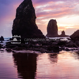 Low Tide Needles with Purple Sunset