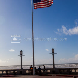 Seaside Prom Turn Around with American Flag 2