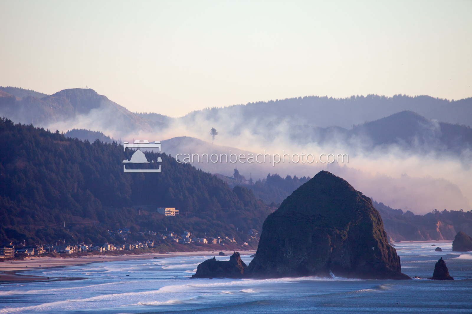 Fire in the Hills Behind Cannon Beach
