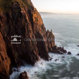 Neahkahnie Cliffs Evening Waves