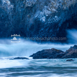 Wave Crash in Haystack Rock Arch