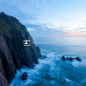 Neahkahnie Cliffs in Blue, Horizontal