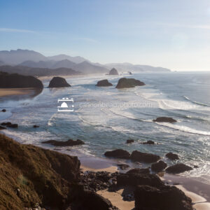 Sunny New Years View at Ecola State Park Vertical