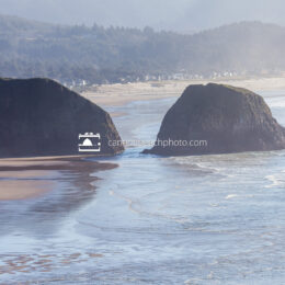 Chapman Point on New Years from Ecola State Park