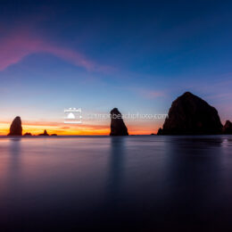 Evening Reflections of Haystack Rock