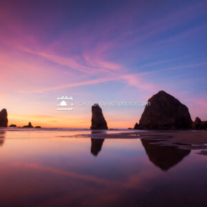 Haystack Rock Brilliant Sunset