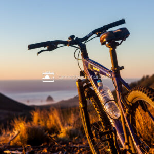Mountain Bike at Sunset Above Cannon Beach