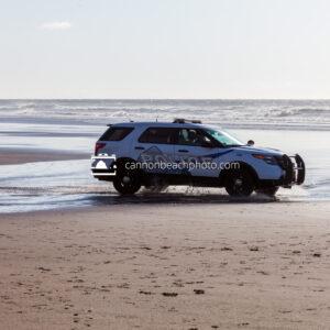 Cannon Beach Police on the Beach 1