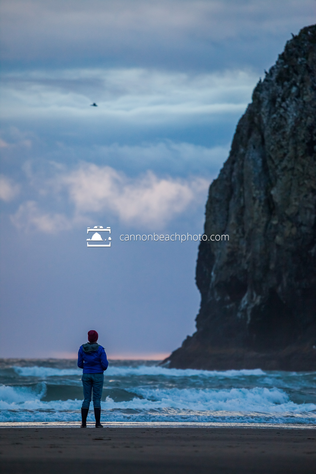 Woman Watching Sunset at the Needles 4