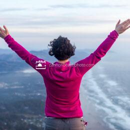 Woman at Neahkahnie Mountain Viewpoint